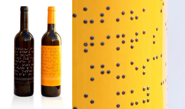 braille su etichetta vino